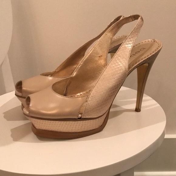 a0cef1984e3 bebe Shoes - Bebe Zahara Peep-Toe Heels